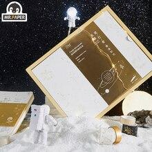 Mr. Papier or argent estampage étoilé marcheur Constellation cahier blanc Washi bande USB lampe lumière étudiant cadeau cadeau cadeau