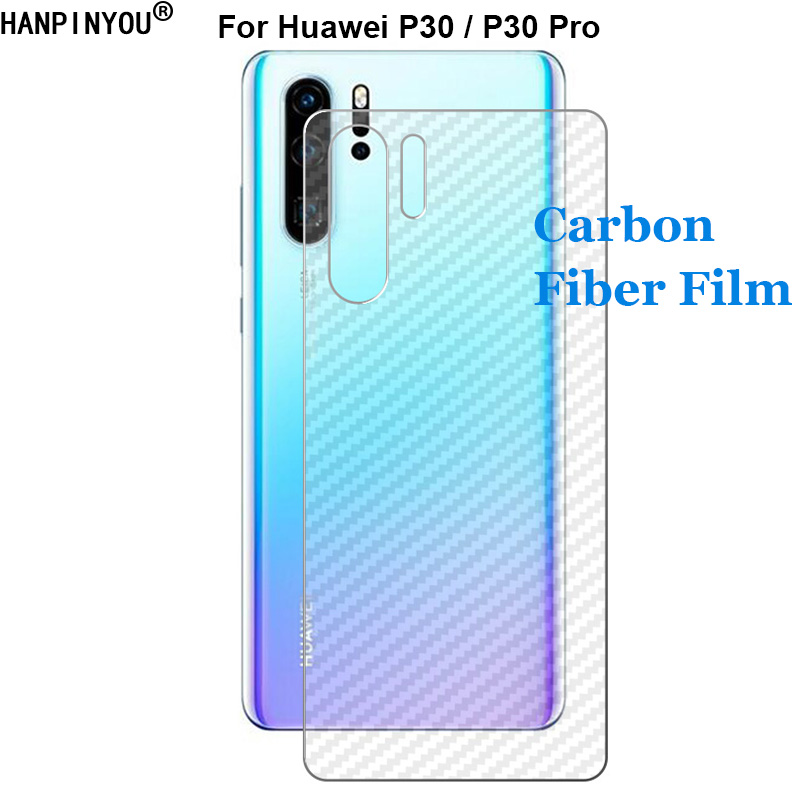 For <font><b>Huawei</b></font> <font><b>P30</b></font> / <font><b>Pro</b></font> New Durable 3D Anti-fingerprint Carbon Fiber Back Film Rear Screen <font><b>Protector</b></font> Sticker (Not Tempered <font><b>Glass</b></font>) image