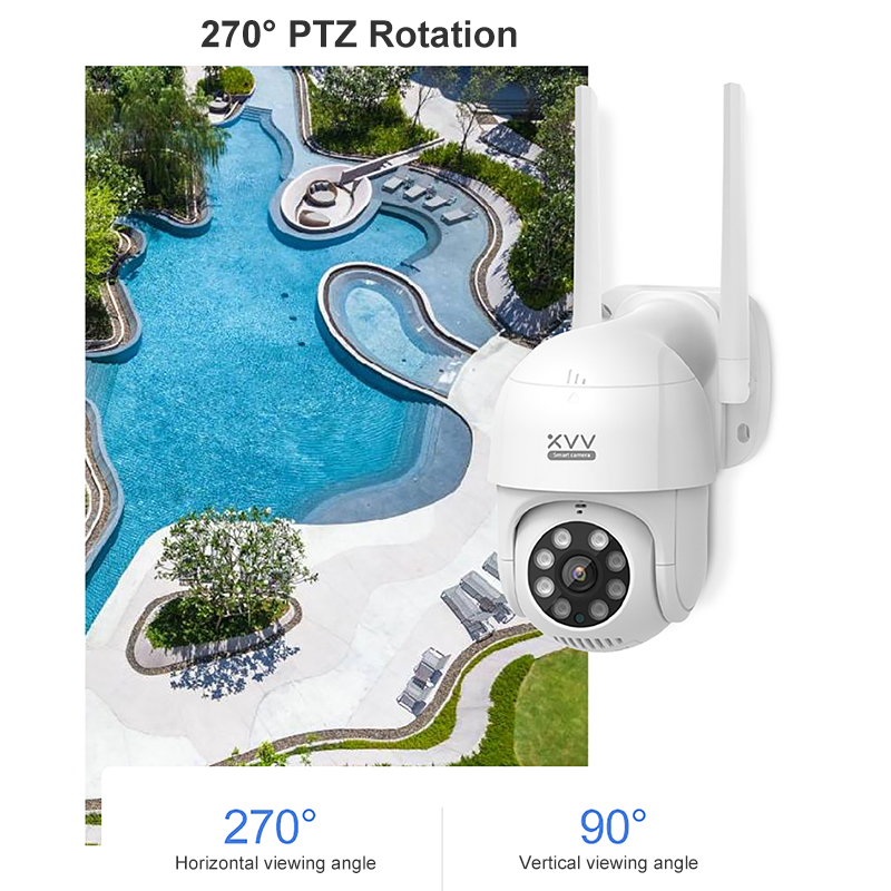 Hot Deals▐Xiaovv Outdoor IP Camera 1080P PTZ Rotate Wifi Webcam AI Humanoid Detect Waterproof Security
