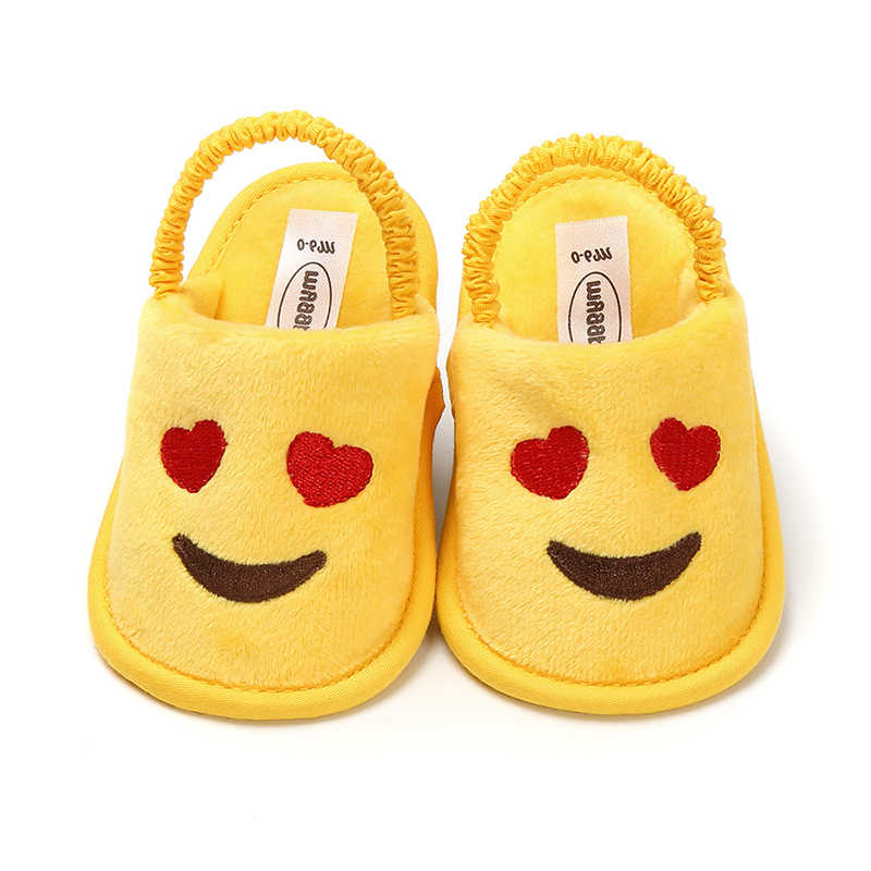 0-18 Months Fashion Smiley love toddler Baby Girls Shoes Cute Infant Baby Slippers newborn baby girl sandals