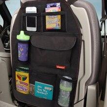 Водонепроницаемый тканевый Авто ящик для хранения спинки сиденья, держатель для сумок, складной многокарманный органайзер, Черный Автомобильный Органайзер