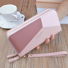 Luxury Brand PU Leather Wallets Women Patchwork Long Zipper Coin Purse Money Credit Card Holders Phone Bags Female Clutch Wallet fashion women wallet cards holders soft pu leather lady purse hand bags money coin purse wholesale clutch wallets bags