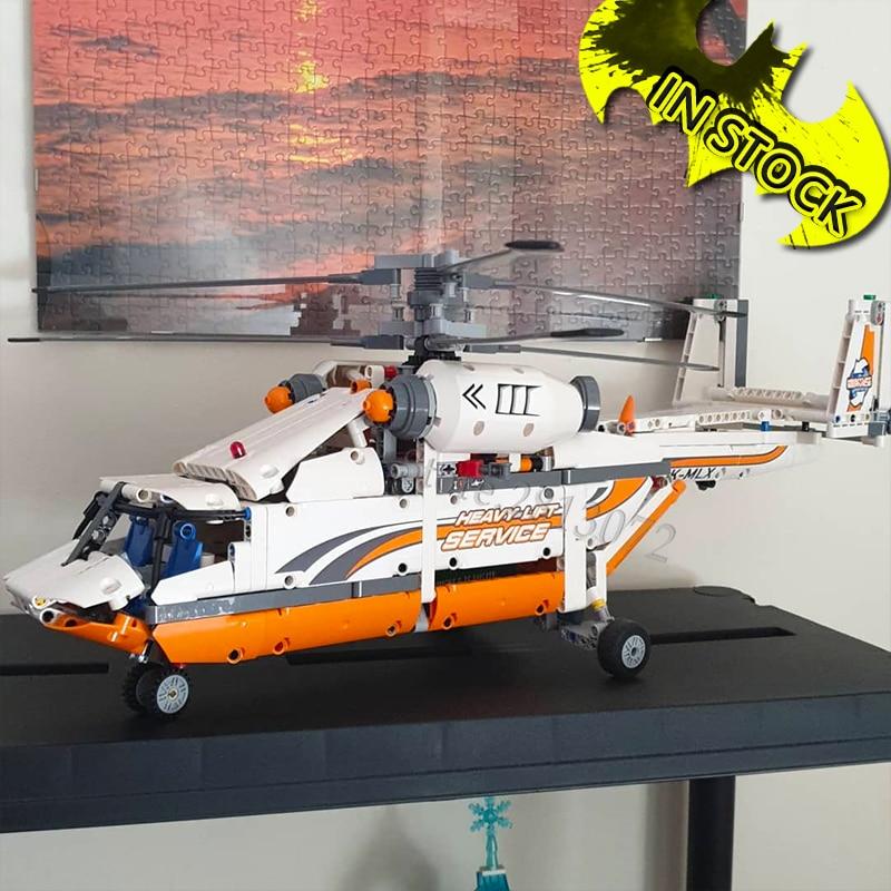 In Stock Heavy Lift Helicopter 42052 Blocks 20002 Technic Plane Compatible Technic Building Bricks Blocks 90004 90038 20015