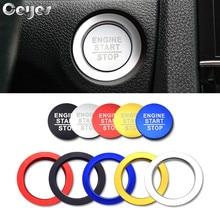 Ceyes Автомобиль Стайлинг для Honda Civic Fit Accord авто двигатель зажигания кнопка запуска и остановки кольцо крышки случае круглая наклейка