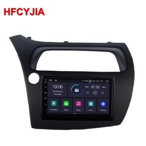 HFCYJIA Android 9.0 System Car Head Unit Radio For Honda CIVIC Auto GPS Navi 2+16G RAM WIFI OBD DVR SWC BT AUX Mirror Phone