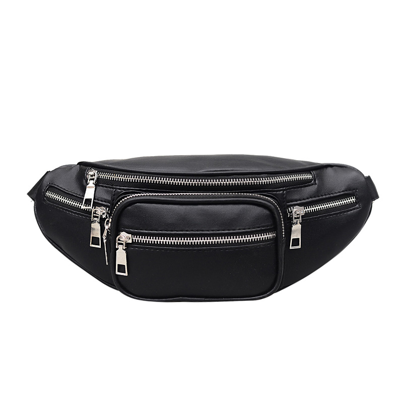 Belt Bag Women Pillow  Solid  Fashion Pu Leather Mini Messenger New Letter Coin Waist Fanny Pack