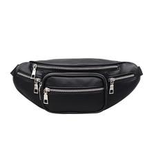 belt bag Women Pillow  Solid Fashion pu leather mini messenger new letter coin waist fanny pack