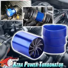 Auto Air Intake Turbine Refit Turbo Gas Stookolie Saver Fan Turbo Supercharger Turbine Fit Voor Luchtinlaat Slang dia 2.5-2.9in