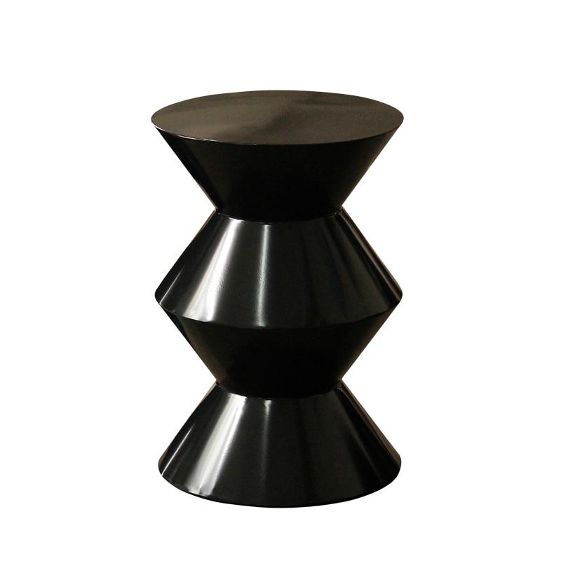 Modern minimalist round small coffee table living room sofa side table metal corner table light luxury small side table