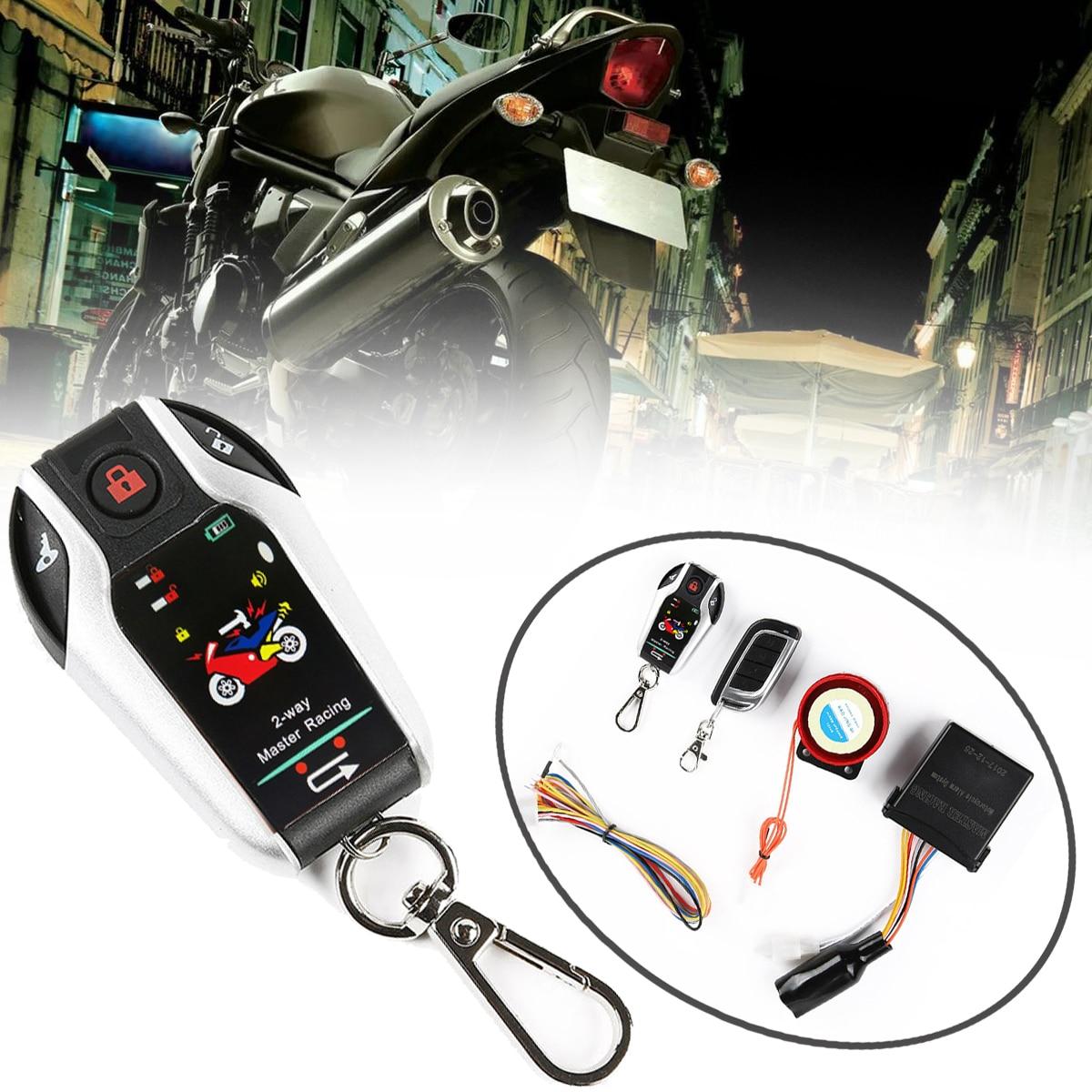 1SET système antivol alarme Moto bidirectionnelle + démarrage moteur Anti-effraction Vibration 5M capteur automatique pour Protection antivol