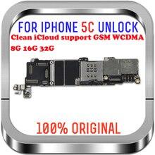 100% разблокированные Материнские платы Для iphone 5C материнская плата с системой 8GB / 16GB / 32GB