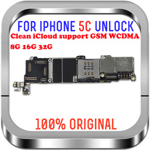 100%  unlocked logic main boards for iphone 5C Motherboard with  System 8GB / 16GB / 32GB