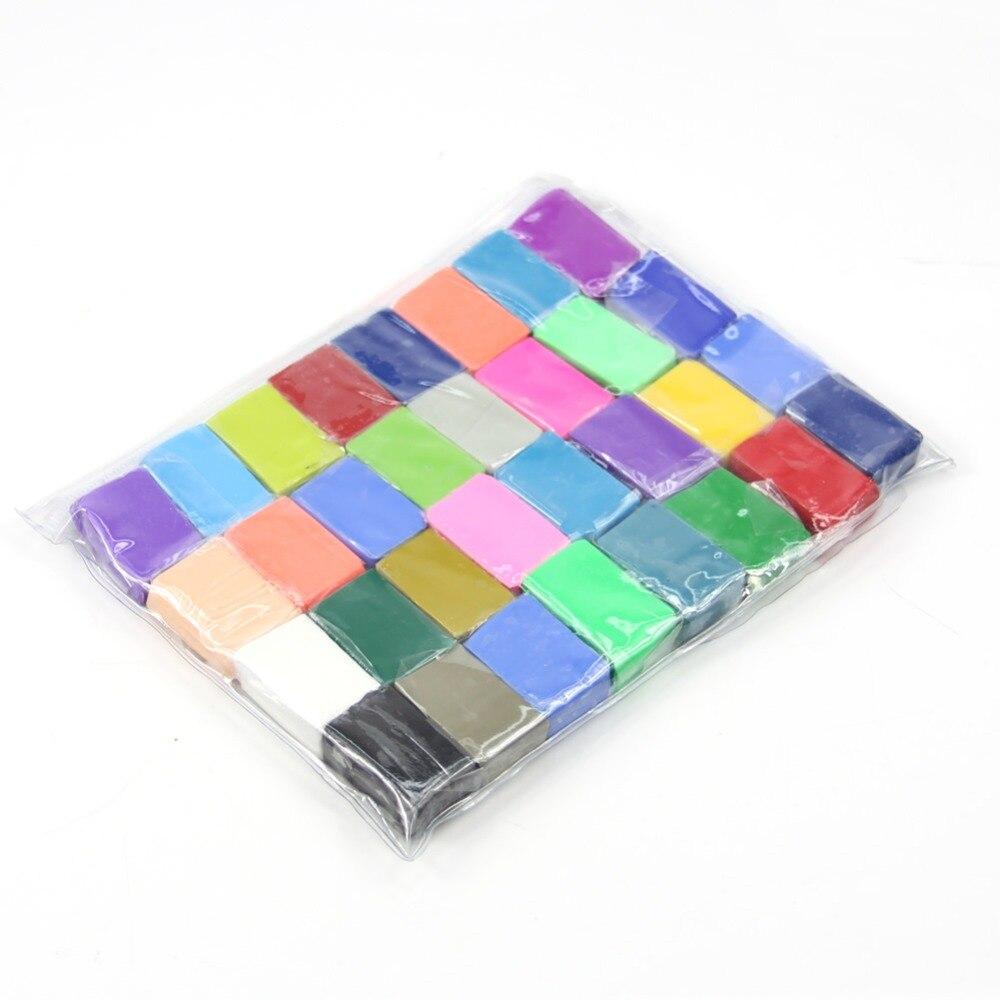 32 farben Fimo Polymer Modellierung Weichen Ton Blöcke Plastilin Handwerk DIY Spielzeug