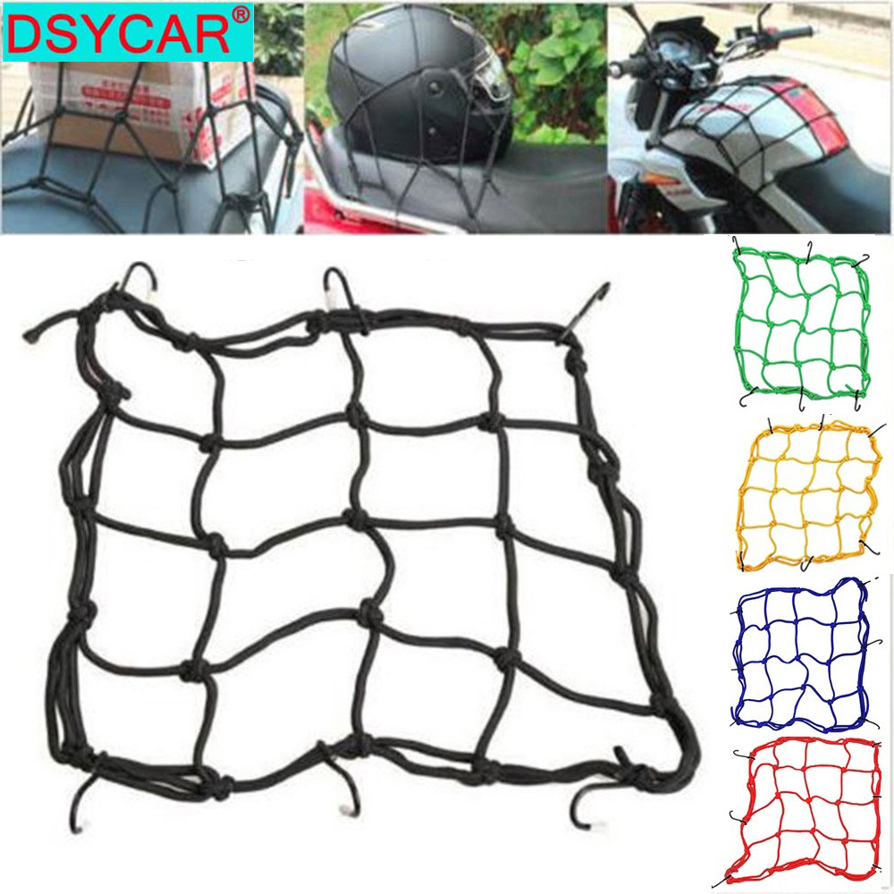 DSYCAR   1Pcs Motorcycle Fuel Tank Network Helmet Rope Net Pieces Travel Goods Luggage Net Bag 6 Hooks Hold Down New|Motorcycle Luggage Net| |  - title=