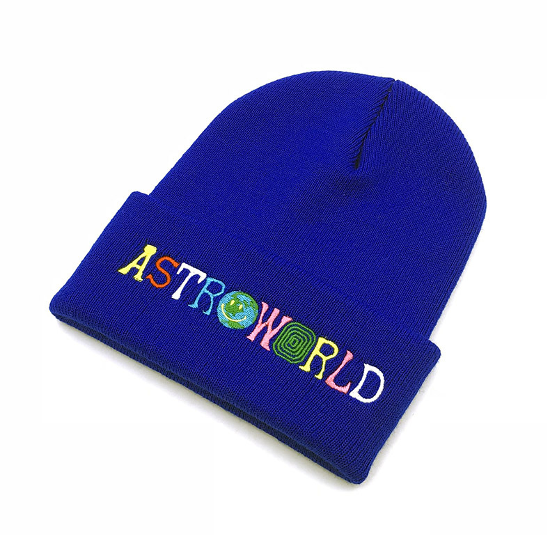 2019 Autumn Hat Cap Hat Mens Winter Warm Skullie Beanie Hip Hop ASTROWORLD Embroidered Dustin Black Knit Cap Hat Cosplay Gift