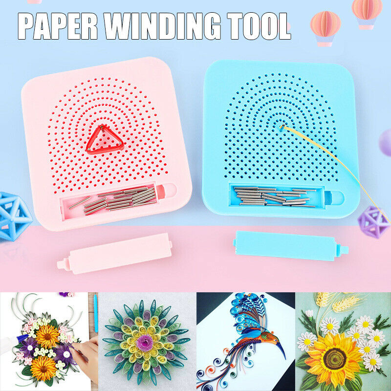 Winding Plate Winder Spinner Paper Knitting Tool Weaving Looms Knitting Paper Quilling Board Handmade Quilter Grid