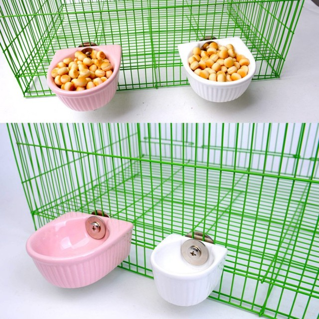 Pet Food Bowl For Hamster Parrot Pet Water Food Feeder Anti-overturned Foods Bowl Feeding Dish Rabbit Cage Feeder 5