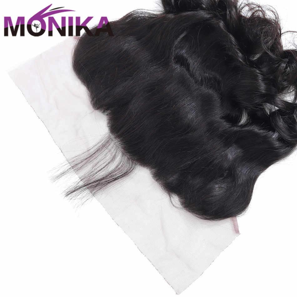 Monika волосы на ухо закрытие малазийские Свободные волны кружево спереди Закрытие 130% Плотность фронтальные человеческие волосы закрытие не Реми фронталы