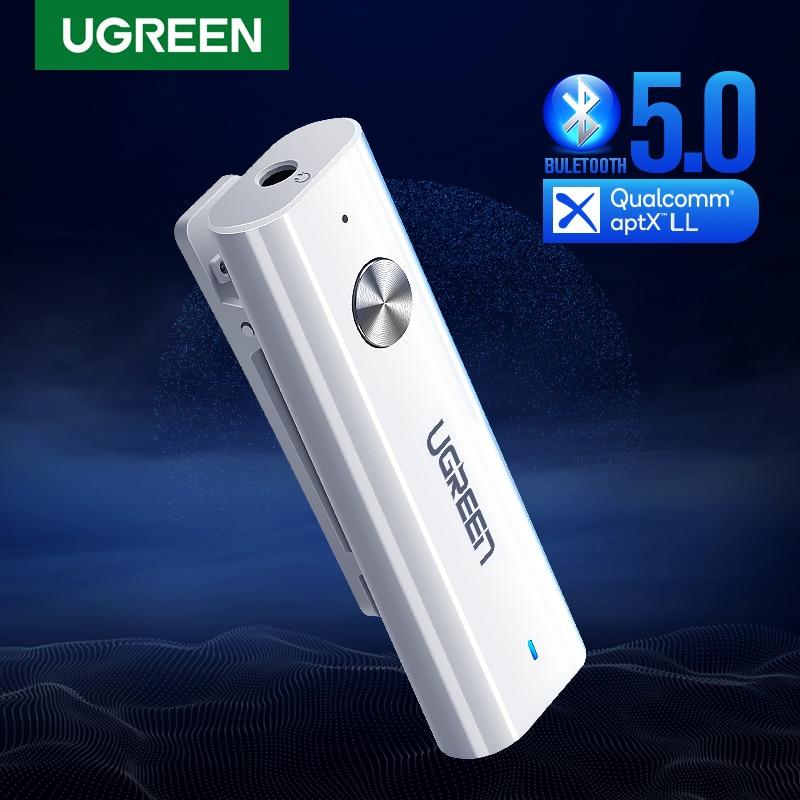 Ugreen bluetooth 5.0 receptor 3.5mm aptx ll aux adaptador para fone de ouvido alto-falante música sem fio bluetooth 3.5 jack receptor de áudio