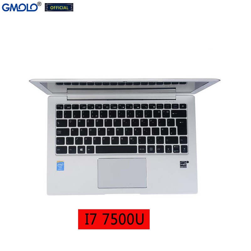 GMOLO 13.3 Intel I7 7th Gen 7500U 16GB DDR4 RAM or 8GB  256GB SSD + 1TB HDD 13.3inch IPS screen metal gaming laptop computer 1