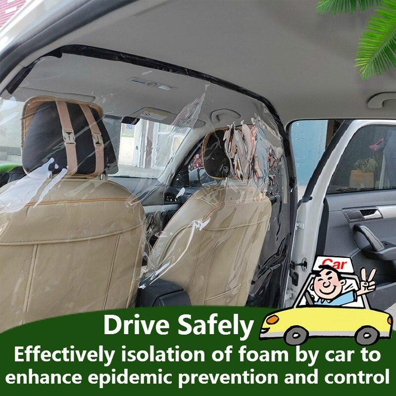 Folia przezroczysta samochód anty kropelki dowód ekran izolacyjny folia ochronna PVC kurtyna izoluj Film dla Ubers taksówkarz pasażer