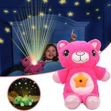 Plush Starry Stuffed Animal Projector Lamp Toy Star Belly Dream Lites Cartoon Plush Toys Starry Sky Dream Night Light Soothe Toy