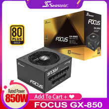 Seasonic Focus GX850W Alimentation PFC Ventilateur Silencieux 850W ATX 24pin 12V 80PLUS Gold PC Ordinateur SATA Gaming PC Alimentation