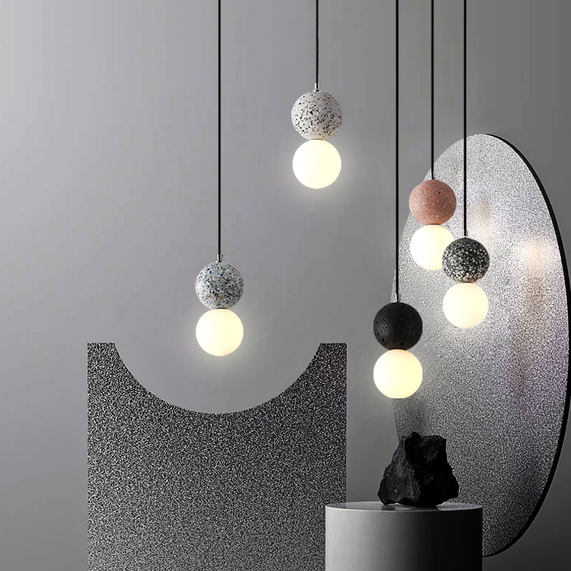 Hot Promo Bd99 Ins Led Cement Pendant Lights Modern Decor Hanging Ceiling Lamps Retro Cafe Chandelier Lighting Bedroom Light Fixtures Cicig Co