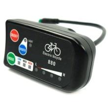 Elektrikli bisiklet ekranı 24V 36V 48V Ebike Ligent kontrol paneli Lcd ekran LED880 su geçirmez denetleyici KT