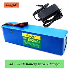 2020 48v lithium battery 48v 20Ah 1000w 13S3P Lithium ion Battery Pack 54.6v E-bike Electric bicycle Scooter with BMS+ charger(China)