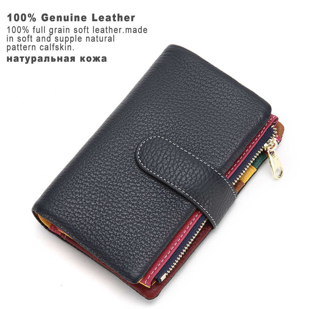 Portfel damski XDBOLO krótki portfel damski portfel damski portfel damski portfel damski kopertówka z zapięciem na dziewczynę