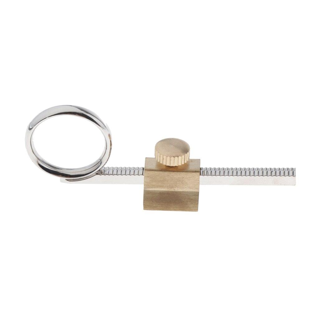 Trumpet Valve Slide Trumpet Finger Ring With Holder Trumpet Repair DIY Parts, Silver