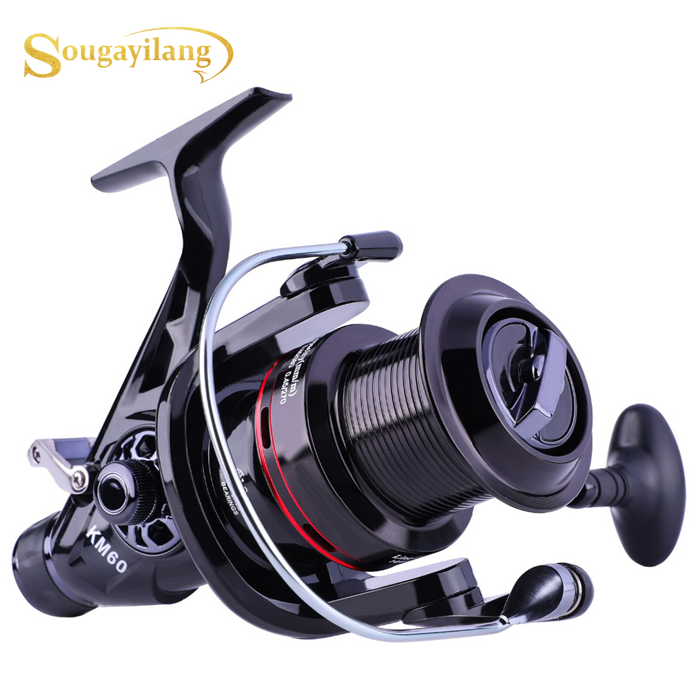 Sougayilang 11+1BB Carp Fishing Reel Right Left Hand Interchangeable CFishing Coil Reel 11+1BB Feeder Carp Reel