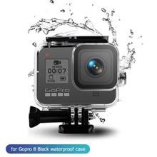 移動プロヒーロー8防水保護シェル60メートル水中カメラケースダイビングハウジング移動プロヒーロー8黒