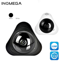 INQMEGA 360 Degree Camera IP 3MP Fish Eye Panoramic 960P WIFI CCTV 3D VR Video IP Cam Micro SD Card Audio Remote Home Monitoring цена