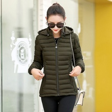 ZOGAA 2019 Causal Ladies Solid Padded Jacket Short Autumn Winter Wadded Jacket Women Hooded Coats Fe