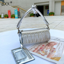 [BXX] Diamonds Tassel Chain Bag For Women 2020 Summer Luxury Shoulder Handbags A