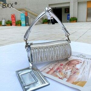 [BXX] Diamonds Tassel Chain Bag For Wome