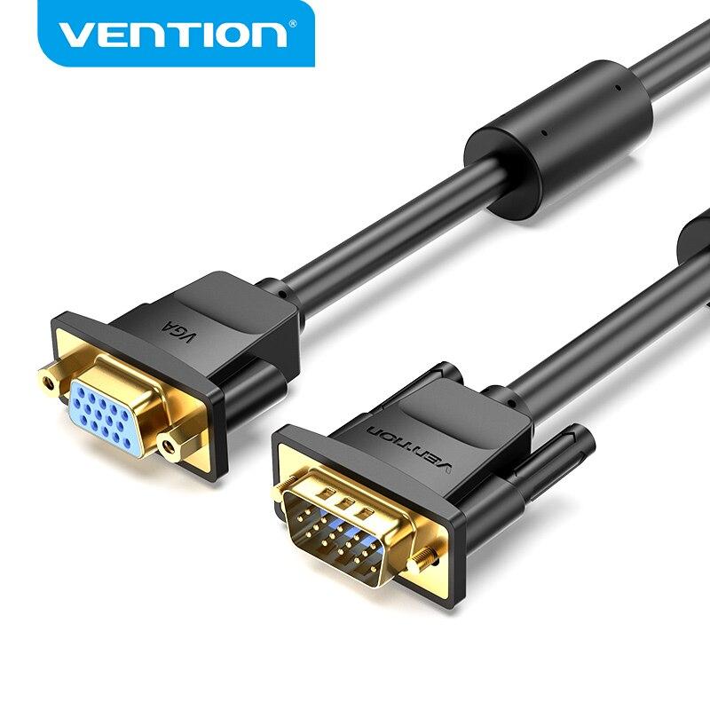 Vention VGA кабель VGA папа к женскому Удлинительный кабель 1080P VGA соединитель расширителя конвертер для монитора ТВ компьютерный кабель VGA