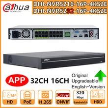 Dahua Original PoE NVR 32CH NVR5232-16P-4KS2E 12MP 16CH NVR5216-16P-4KS2E Support Two Way Talk e-POE 800M Network Video Recorder