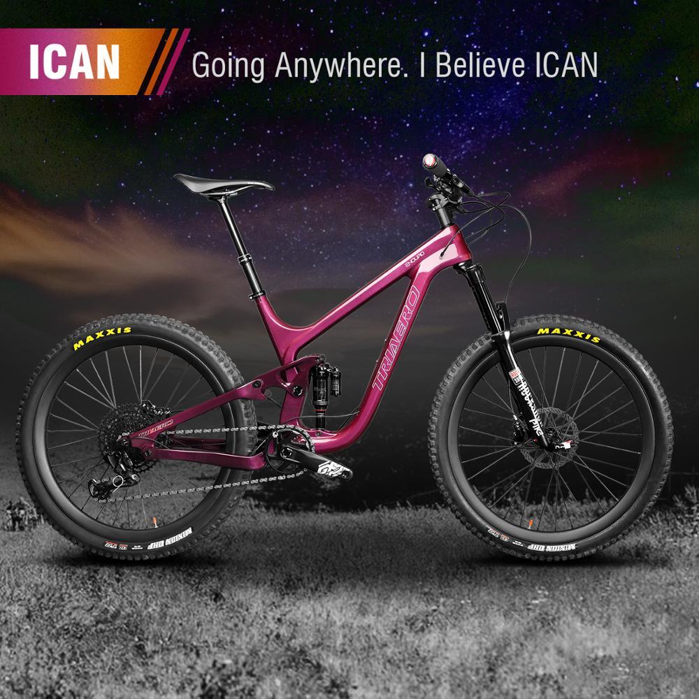 Полностью углеродный велосипед 29er углеродная подвеска велосипед MTB Горный эндуро велосипед с радужные Переводные картинки внутренняя гарн...