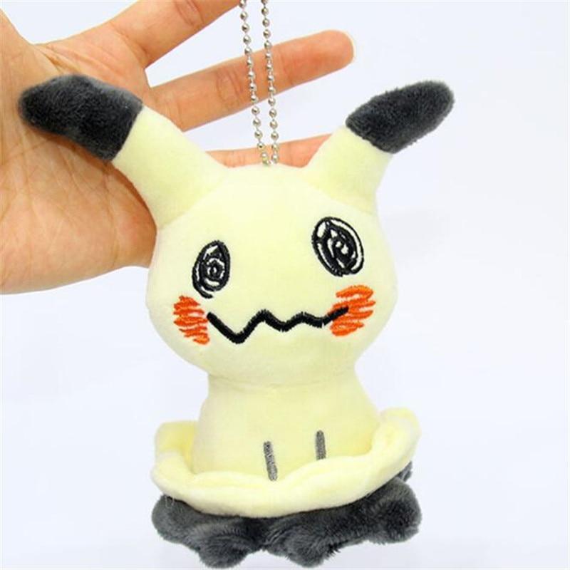 Japan Anime Pokemon Pikachu Mimikyu Key Chain Hanging Drop Cosplay Badge Props Plush Doll Toy Hangings