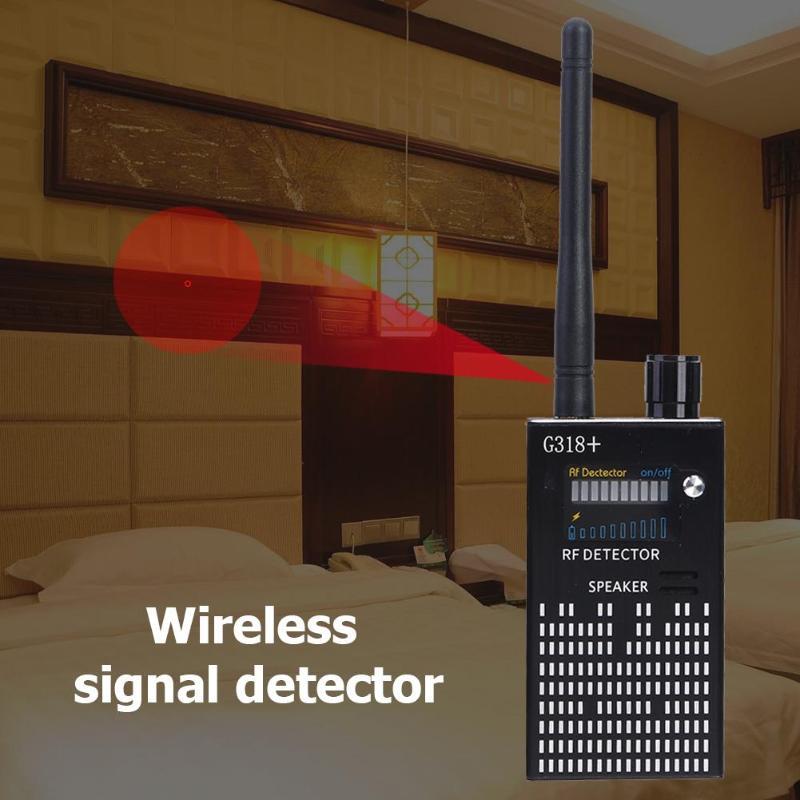 G318+ Wiretap Hidden Spy Cam Gsm Jammer Signal Blocker Mini Camera Spy Camera GPS Tracker GSM Card RF Sound Signal Spy Detector