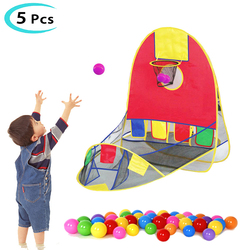 Foldable Pop Up Sport Basketball Shooting Tent Ocean Ball Game Basket Fun Ocean Ball Shooting Tent Ball Pit Fence Indoor For Kid