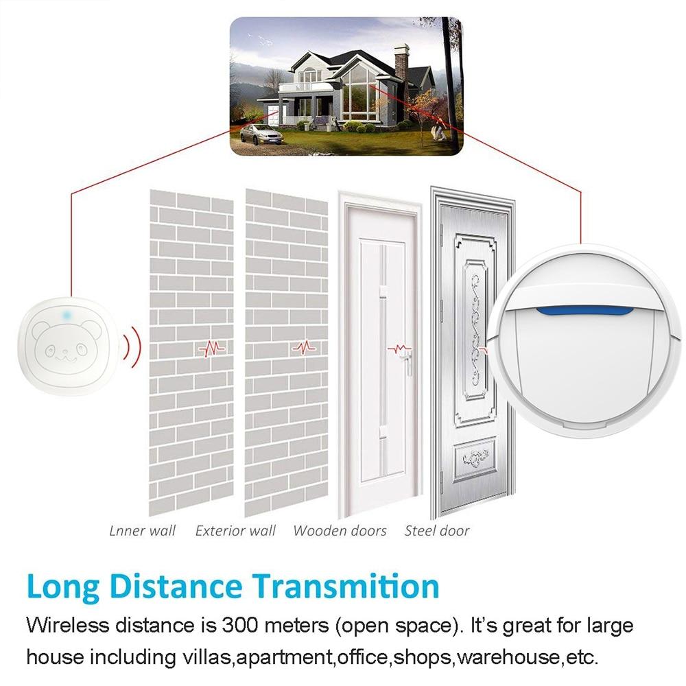 Pet Dog Doorbells Wireless Door Bell House-training Multifunction Sensor Motion (Receiver & Transmitters) Training Tool-4