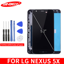 Sinbeda 5.2For LG Nexus 5X LCD Display Touch Screen with Frame Digitizer H790 H791 H798 For 5x