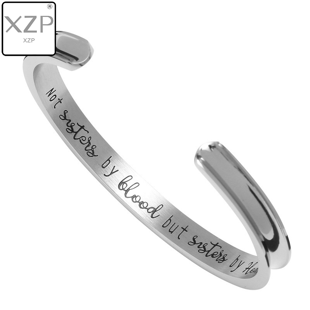XZP Heart Bangle Bracelets Sisters Farewell Graduation Gift by Blood-But