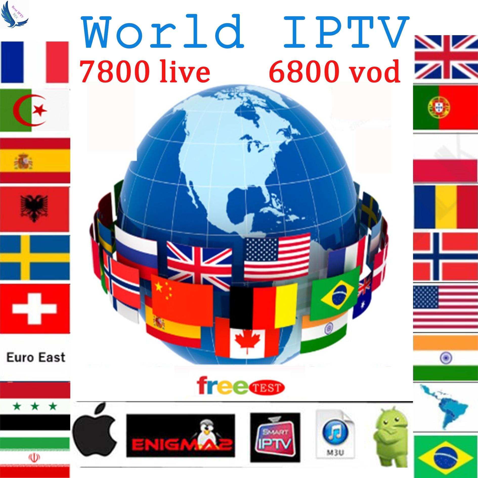Golden World Iptv Subscription 7800+Live&vod With French Spanish English Sweden Canada Poland Belgium Dutch Arabic Israel Iptv