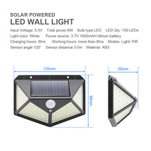 LED Solar Lights Motion Sensor 3 Modes 100/208 LED Outdoor Solar Powered Waterproof IP65 with Wide Angle for Garden Street Patio