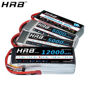 HRB 4S Lipo Battery 14.8v 5000mah 6000mah 4S 2200mah 3300mah 4200amh 12000mah 22000mah RC lipo Dean for rc car drones helicopter 2